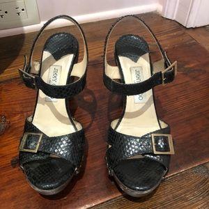 Jimmy Choo Snakeskin Sandal